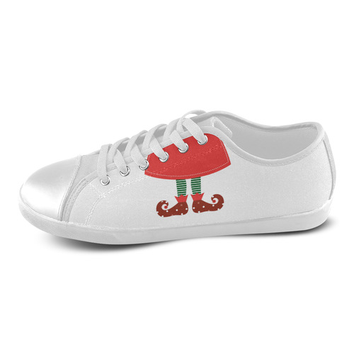 Cute elegant Witch lady : fashion design in Fairytale Vintage style. 2016 art edition. Women's Canvas Shoes (Model 016)