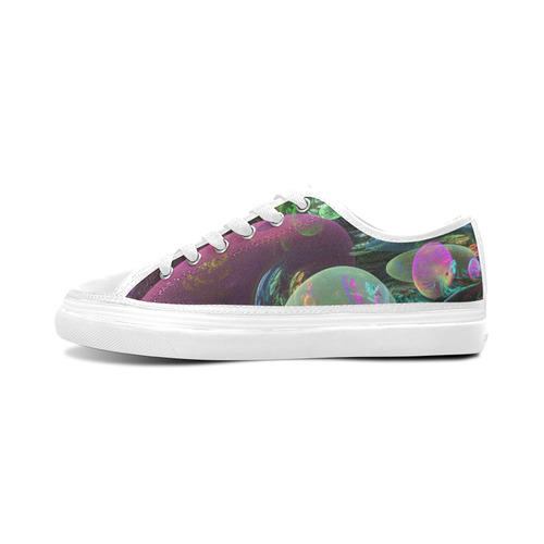 Creation of the Rainbow Galaxy, Abstract Rainbow Women's Nonslip Canvas Shoes/Large Size (Model 001)