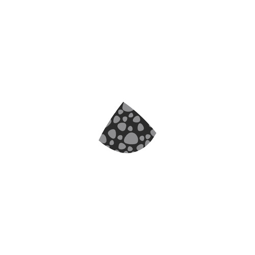 Black leopard bikini art collection : black and grey - vintage art series Custom Bikini Swimsuit