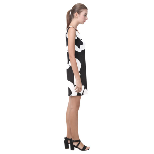 Zappy Black and White Medea Vest Dress (Model D06)