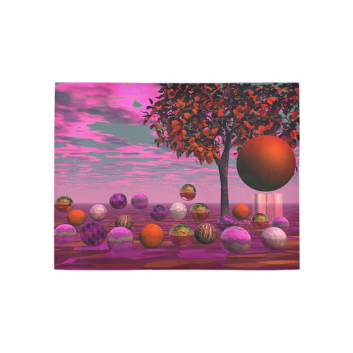 Bittersweet Opinion, Abstract Raspberry Maple Tree Area Rug 5'3''x4'