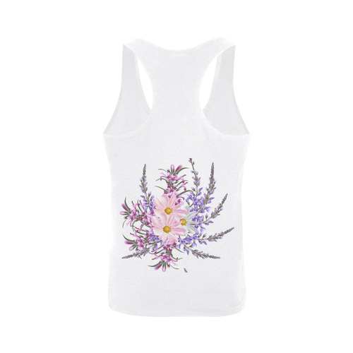Luxury feathers art-collection in Wild Pink / Infinity collection 50s years inspired Men's I-shaped Tank Top (Model T32)