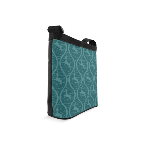 Teal Reindeer Crossbody Bags (Model 1613)