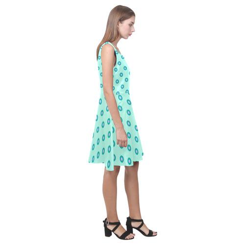 green geometric pattern Hebe Casual Sundress (Model D11)