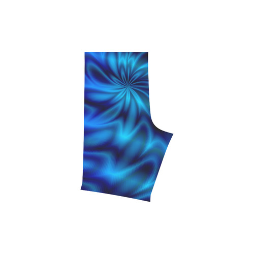 Blue Shiny Swirl Men's Swim Trunk (Model L21)