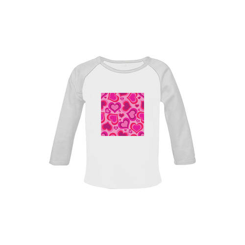 Artistic heart-shaped T-Shirt edition for Kids. DESIGNERS FASHION in Shop 2016 Baby Organic Long Sleeve Shirt (Model T31)