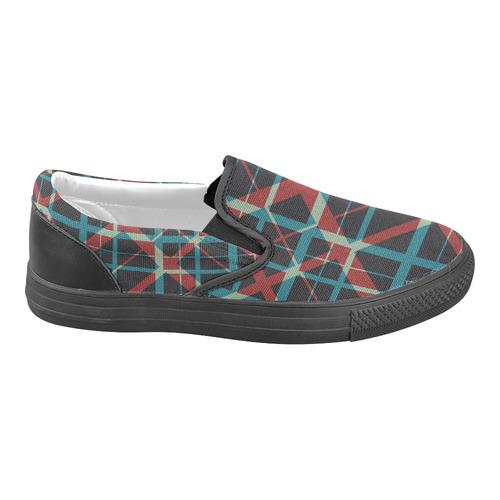 groß auswahl Factory Outlets Sonderrabatt von Plaid I pattern plaid cool hipster everyday comfort Men's Unusual Slip-on  Canvas Shoes (Model 019)