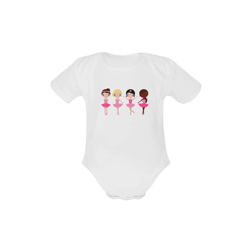 Little cute Balerina designers body for baby edition 2016 Baby Powder Organic Short Sleeve One Piece (Model T28)