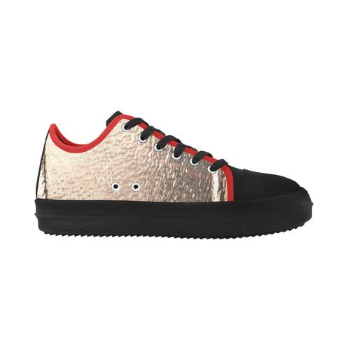 Metallics 3-D Look Gold Foil Crater Microfiber Men's Shoes (Model 030)