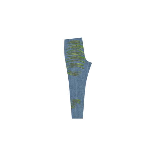 Torn Look Denim Jeans - Halloween - Alien Skin Cassandra Women's Leggings (Model L01)