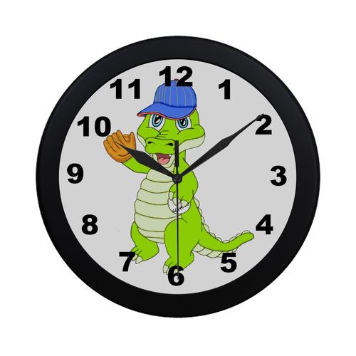 Baseball Gator Circular Plastic Wall clock