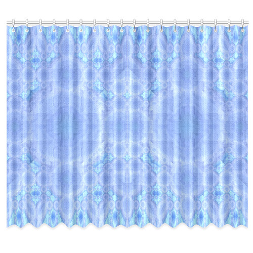 "Blue Pastel Mandala Window Curtain 50""x84""(Two Piece)"