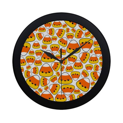 Kawaii Candy Corn v2 Circular Plastic Wall clock