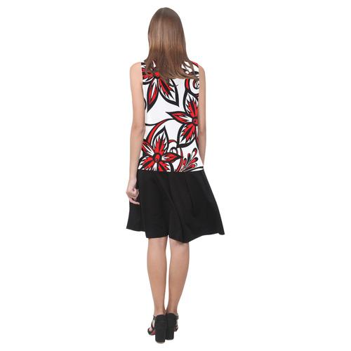 Fizzled Sleeveless Splicing Shift Dress(Model D17)