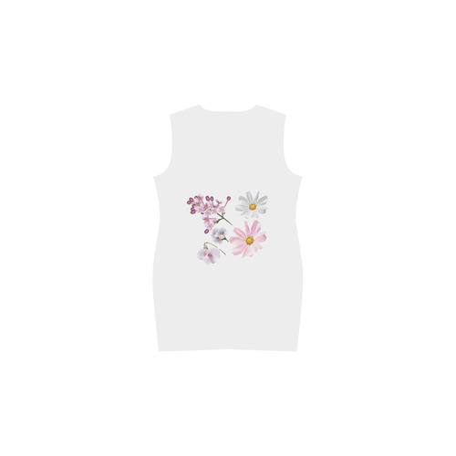 Beautiful Artistic collection 2016. Floral Art edition. Phoebe Sleeveless V-Neck Dress (Model D09)