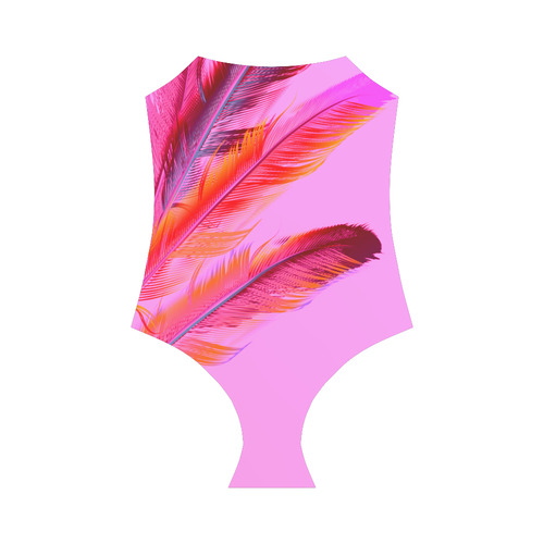 New full body Bikini with artistic feathers : high-quality Art / original hand-drawn Illustration Strap Swimsuit ( Model S05)