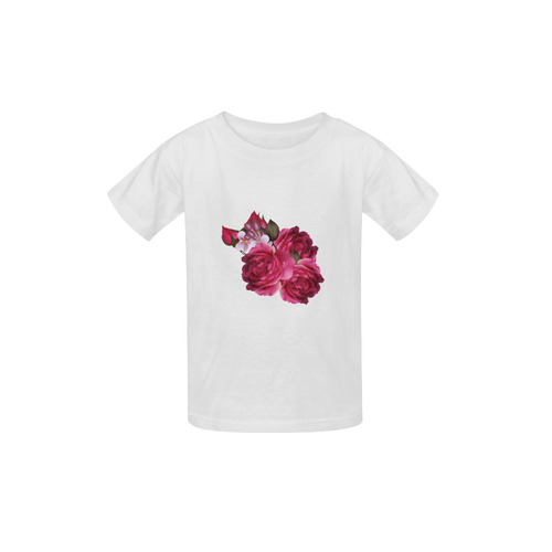 Floral artistic T-Shirt : Designers edition for Kids 2016 / deep wine purple colorful Art edition Kid's  Classic T-shirt (Model T22)