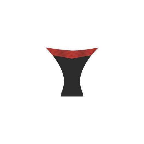 Polka Dots with Red Sash and Black Custom Bikini Swimsuit