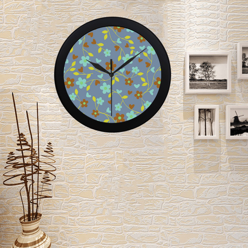 lovely floral 416E Circular Plastic Wall clock