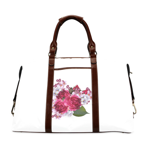 Floral bag edition for Women : Original Gift / New arrival in designers Shop available in wine Old c Classic Travel Bag (Model 1643) Remake