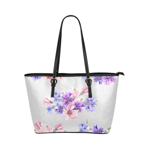 Cute designers Elegant bag with Flowers : Designers edition / NEW IN SHOP Leather Tote Bag/Small (Model 1651)