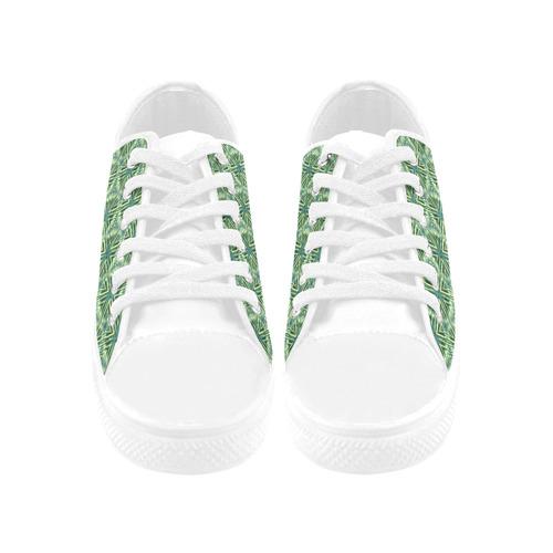 vintage pattern 13B Aquila Microfiber Leather Men's Shoes (Model 031)