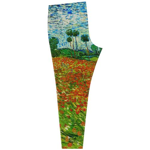 Vincent Van Gogh Field With Red Poppies Cassandra Women's Leggings (Model L01)