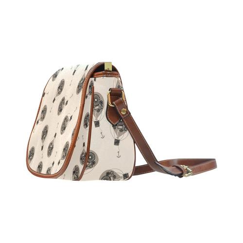 Steampunk Sepia Balloons Saddle Bag/Small (Model 1649) Full Customization