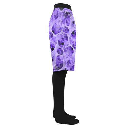 SPIDER WEB fractal - violet black Men's Swim Trunk (Model L21)