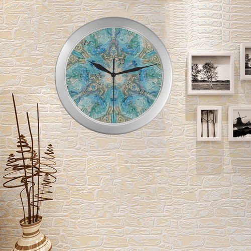 rosace 11 Silver Color Wall Clock