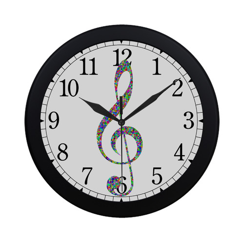 Abstract Triangle Music Note Circular Plastic Wall clock