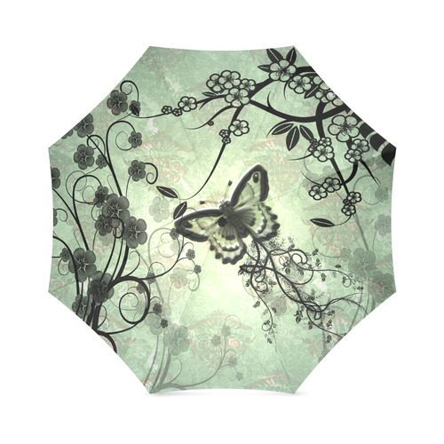 Butterflies and fantasy wood Foldable Umbrella