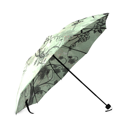 Butterflies and fantasy wood Foldable Umbrella (Model U01)
