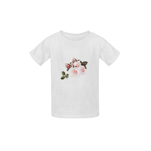 Artistic white T-Shirt with vintage roses : collection 2016 Kid's  Classic T-shirt (Model T22)