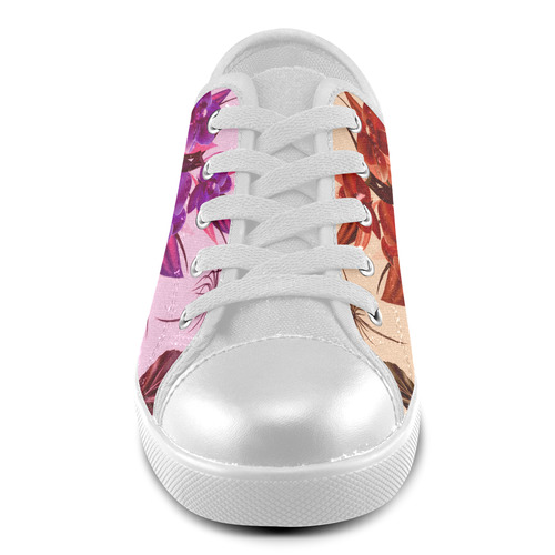 Cute artistic beige and pink handdrawn Boots : New arrival in our Shop 2016 edition Canvas Kid's Shoes (Model 016)