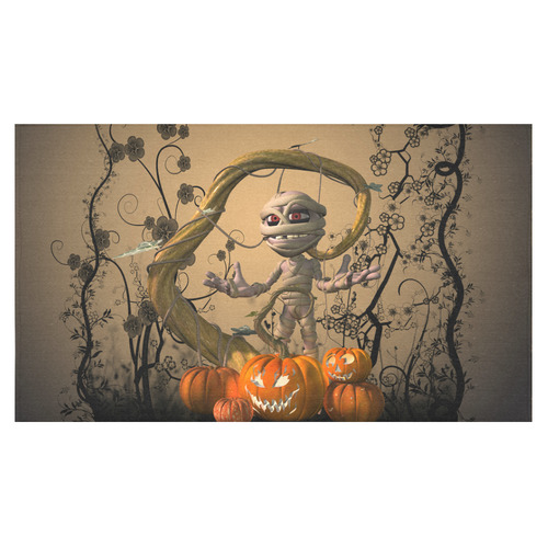 "Funny mummy with pumpkins Cotton Linen Tablecloth 60""x 104"""