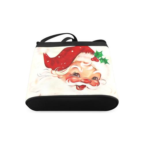 A cute vintage Santa Claus with a mistletoe Crossbody Bags (Model 1613)