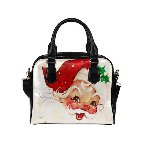 A cute vintage Santa Claus with a mistletoe Shoulder Handbag (Model 1634)