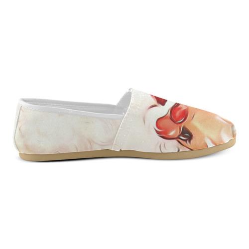 A cute vintage Santa Claus with a mistletoe Unisex Casual Shoes (Model 004)