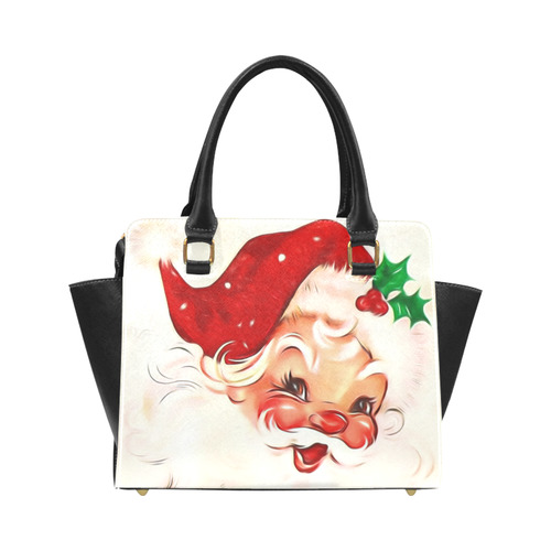 A cute vintage Santa Claus with a mistletoe Classic Shoulder Handbag (Model 1653)
