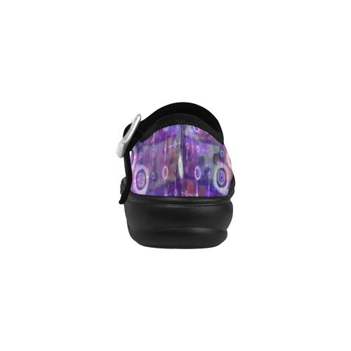 Purple Celestial Quilt Virgo Instep Deep Mouth Shoes