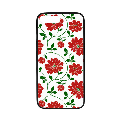 Red Flowers Beautiful Floral Wallpaper Rubber Case For Iphone 7 Plus 5 5 Id D929726