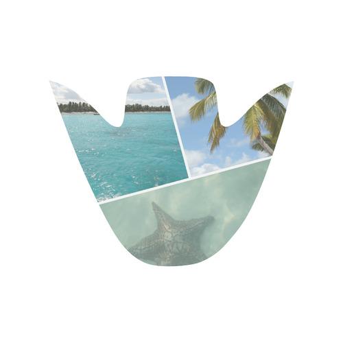 Caribbean Collage Slip-on Canvas Shoes for Men/Large Size (Model 019)