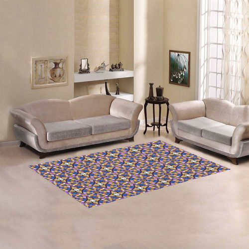 Purple and Brown Area Rug 5'x3'3''