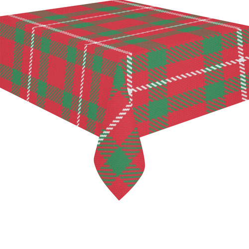 """Red and Green Plaid Cotton Linen Tablecloth 52""""x 70"""""""