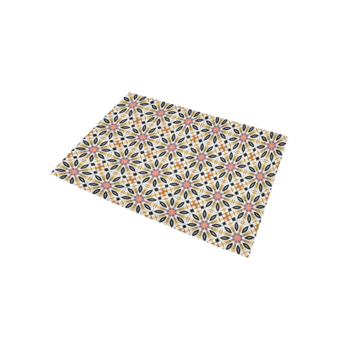 Floral Quilt Pattern Area Rug 5'x3'3''