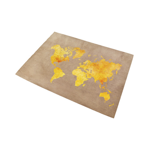 world map 23 Area Rug7'x5'