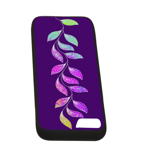 """BORDER LEAVES TENDRIL Watercolor Colored White Rubber Case for iPhone 7 (4.7"""")"""