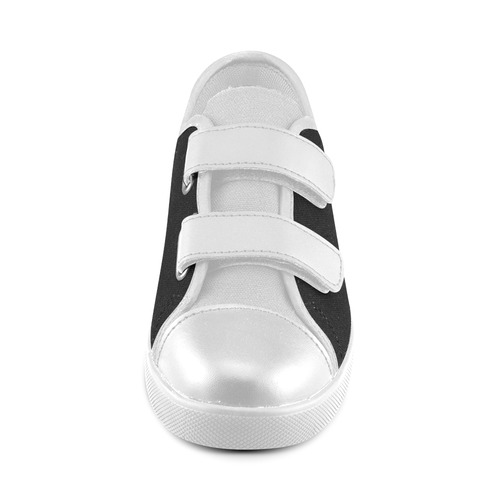 New! Black and White contrast Shoes. New fashion arrival in our Atelier for 2016 Velcro Canvas Kid's Shoes (Model 008)