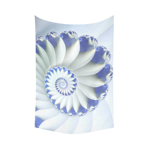"Blue Sea Shell Beautiful Fractal Art Cotton Linen Wall Tapestry 90""x 60"""